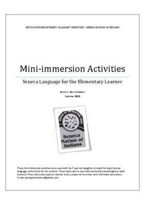 Mini-Immersion Activities